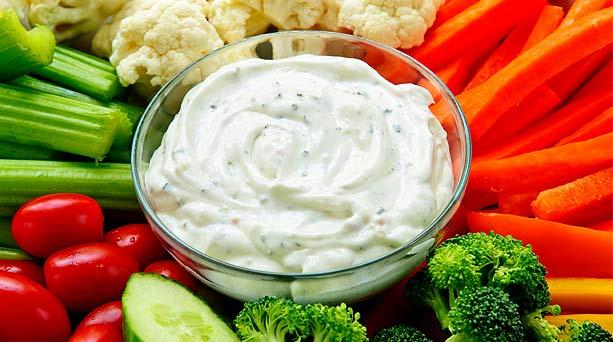 Comidas con aderezos ensaladas